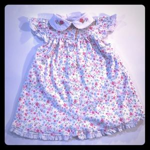 👗 Little Me Floral Dress Baby Girl Size 9M 👗